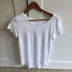Women's white short sleeve top